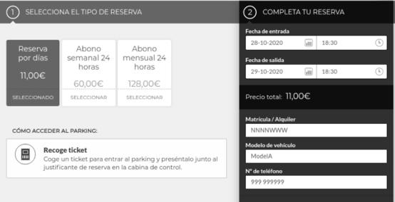 reserva tu parking online